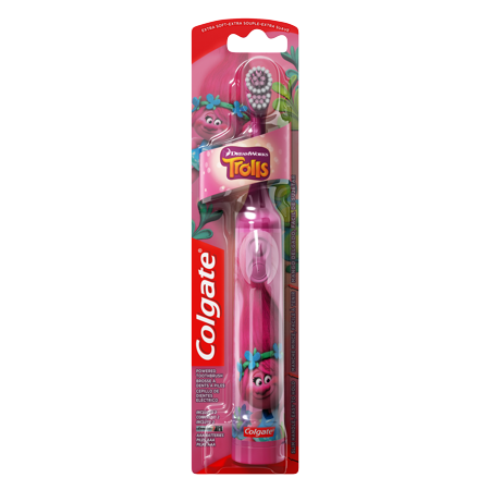 Colgate Kids Battery Powered Toothbrush, Trolls