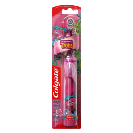 Kids Toothbrush Timer (Colgate Kids Battery Powered Toothbrush, Trolls )