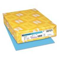 Astrobrights Color Cardstock, 65lb, 8 1/2 x 11, Lunar Blue, 250 Sheets -WAU22721