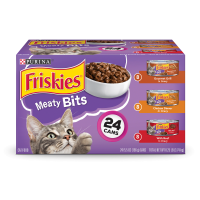 Friskies Meaty Bits Adult Wet Cat Food Variety Pack - (24) 5.5 oz. Cans