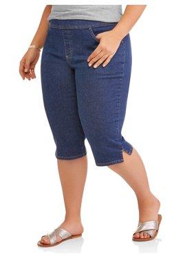 Women's Plus 2-Pocket Pull-On Capri