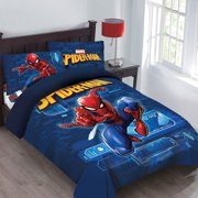 Full Spider-Man Marvel BED IN A BAG Comforter Set W/Fitted Sheet And Pillowcases