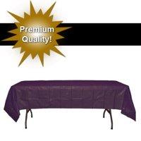 """Exquisite 12 Pack Premium Rectangular Plastic Tablecloth, White, 54"""" x 108"""""""