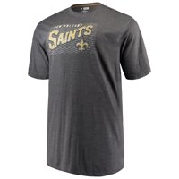Men's Majestic Charcoal New Orleans Saints Big & Tall Royal Domination Malt T-Shirt