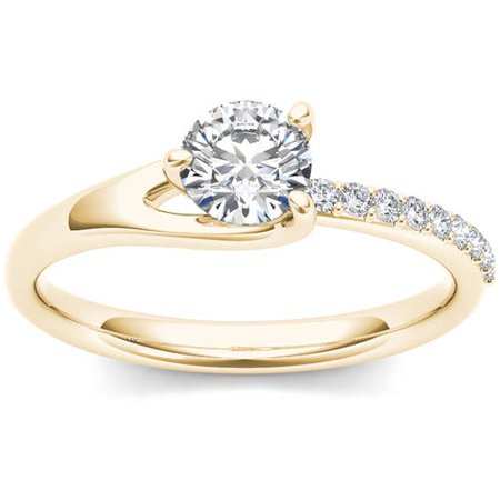 1 Carat T.W. Diamond Classic 14kt Yellow Gold Engagement (1 Carat Diamond Ring 14k Yellow Gold)