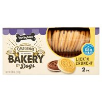 Three Dog Bakery The Original Lick 'n Crunch! Bakery for Dogs, 2 pack, 26 oz