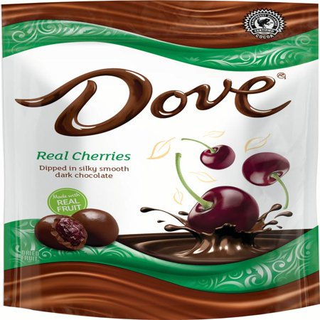 - DOVE Fruit Dark Chocolate with Real Cherries, 17 Ounce Pouch