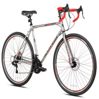 Kent 700c Men's, Eagle Ridge Adventure Gravel Bike, Silver/Red