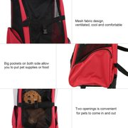 37dc4ae45051 Portable Pet Travel Carrier Bag Rolling Backpack Cat Dog Transporting  Luggage Box