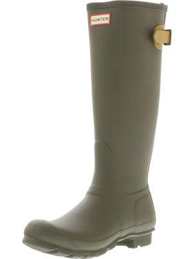 Hunter Women's Original Back Adjust Swamp Green / Burnt Sulphur Knee-High Rubber Rain Boot - 7M