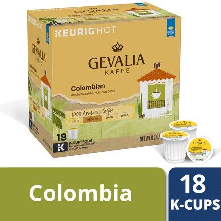 Gevalia Colombian Coffee K-Cup Pods, Caffeinated, 18 ct - 6.2 oz Box (Gevalia Signature Crema Coffee)