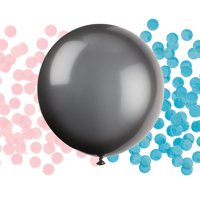 Big Latex Gender Reveal Confetti Balloon, 24 in, Black, 1ct