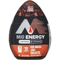 (4 pack) MiO Energy Iced Mocha Java Iced Coffee Concentrate, 12 - 1.62 fl oz Bottles