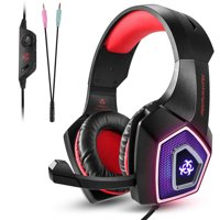 PC Gaming Headset for PS4 Xbox One, PC Gaming Headphone with Mic