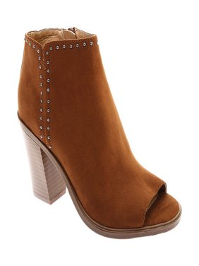 Women's Portland Boot Company Total Studded Open Toe Bootie