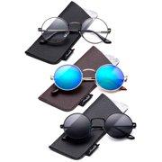 8b716f495 Round Retro John Lennon Sunglasses & Clear Lens Glasses Vintage Round  Sunglasses