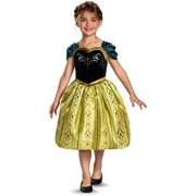 d1fad456f Childs Girls Disney Classic Frozen Anna Coronation Gown Costume