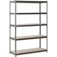 "Muscle Rack 18"" D x 48"" W x 72"" H, 5-Shelf Steel Shelving, Silver-Vein"