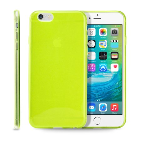 Yellow Protective Case (Ultra Thin Clear TPU Transparent Clear Skin Case Cover for Apple iPhone 6 / 6S Plus 5.5 )