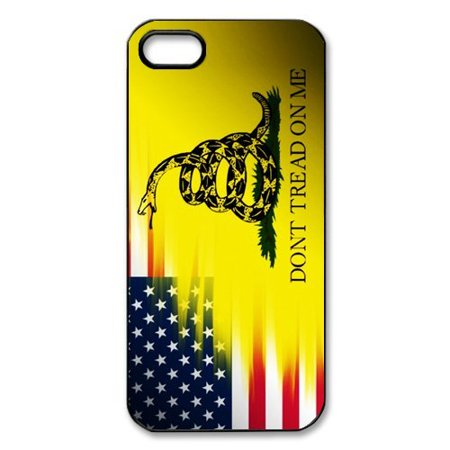 Ganma Ganma Don't Tread On Me Best Flag and Snake Black Plastic Cell Phone Cases Case For iPhone 6 PLUS / 6S PLUS (5.5 in), Case For iPhone 5s (Flag Cell Phone Case)