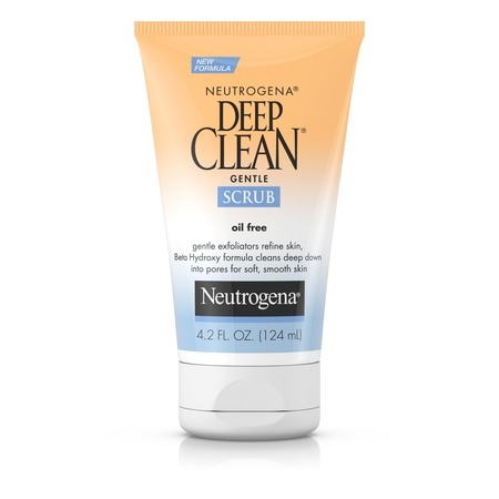 Neutrogena Deep Clean Gentle Facial Scrub, Oil free Cleanser 4.2 fl. oz ()