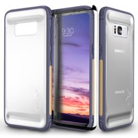 Samsung Galaxy S8 / S8 Plus Case, Zizo FLUX Series w/ Screen Protector- Crystal Clear Back