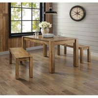 Better Homes and Gardens Bryant 3-Piece Dining Set, Rustic Wood