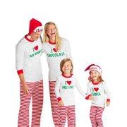 EFINNY Christmas Family Matching Sleepwear Pajamas Set for Kids Mom Dad 4bde4ef21