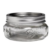 Ball Collection Elite Glass Mason Jar with Lid and Band, Wide Mouth, 8 Ounces, 4 Count