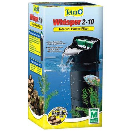 tetra whisper 2 10 gallon depth power filter for aquariums