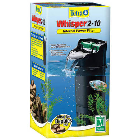 Tetra Whisper 2 -10 Gallon Depth Power Filter for Aquariums ()