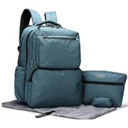 SoHo Ultimate Organizer System Back Pack Diaper Bag Set (Teal)