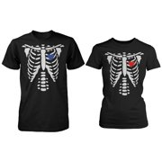 ac1494e9 Skeleton X-Ray Hearts Matching T-Shirts for Couples - Halloween Horror  Shirts