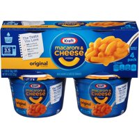 (2 Pack) Kraft Easy Mac Original Flavor Macaroni & Cheese Dinner, 4 - 2.05 oz Microwavable Tubs