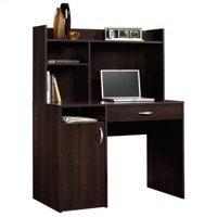 Sauder Beginnings Desk with Drawer and Hutch, Cinnamon Cherry