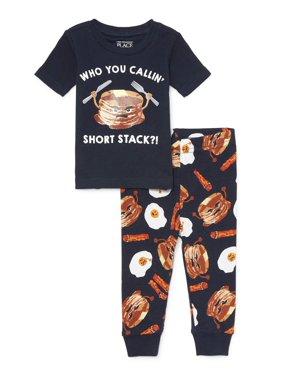 Short Sleeve Tight Fit Pajamas, 2-piece Set (Baby Boys & Toddler Boys)