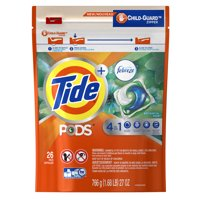 Tide PODS Liquid Detergent Pacs with Febreze, Botanical Rain, 26 Count