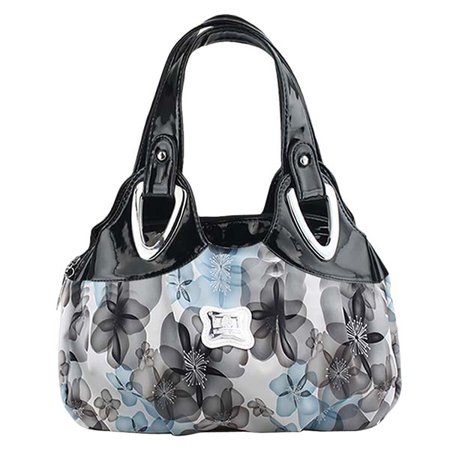 Womens handbags,Coofit colorful Rose Flower Printed Faux Leather Handbag Tote Shoulder Bag for Women Girl Ladies