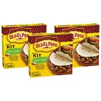(3 Pack) Old El Paso Soft Taco Dinner Kit, 12.5 oz Box