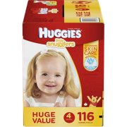 HUGGIES Little Snugglers Diapers, Size 4, 116 Diapers