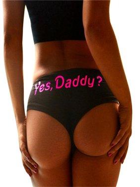 Women Sexy Print G-string Briefs Underwear Panties T string Thongs Knickers Black