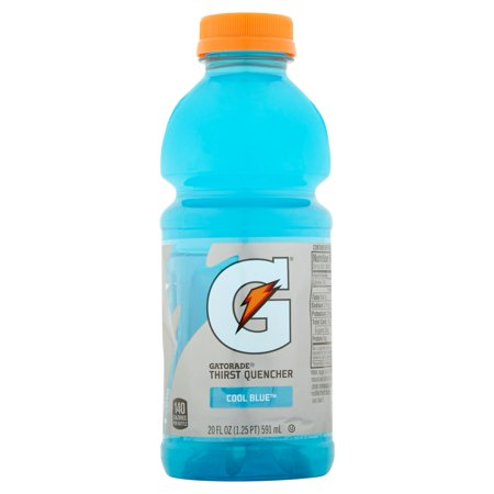 Gatorade Thirst Quencher Cool Blue Sports Drink 20 Fl Oz 8 Count