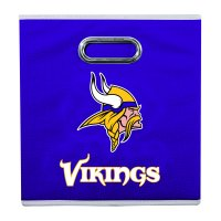 Franklin Sports NFL Minnesota Vikings Collapsible Storage Bin