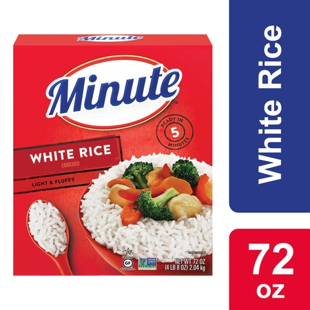 Rice Barrel (Minute White Instant Enriched Long Grain Rice, 72 oz. Box )