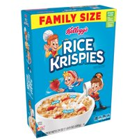 (3 pack) Kellogg's Rice Krispies Breakfast Cereal Fat-Free Family Size 24 oz