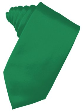 "Men's Solid Satin Neck Tie 59"" Long. 3.5"" Wide in Green"