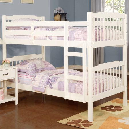 Chelsea Lane Elise Convertible Twin Over Twin Wood Bunk Bed