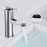 Chrome Brass Bath Bathroom Waterfall Basin Sink Faucet Vanity Mixer Water Tap Single Handle