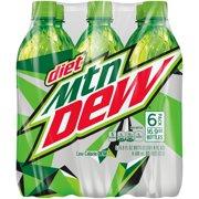 (4 Pack) Diet Mountain Dew, 16.9 Fl Oz, 6 Ct