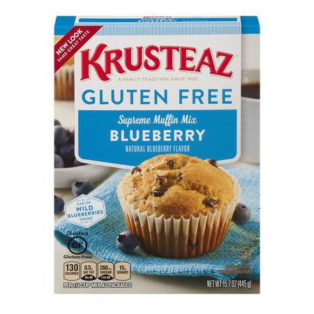 (2 Pack) Krusteaz Gluten Free Blueberry Muffin Mix, 15.7oz - Strawberry Shortcake Blueberry Muffin